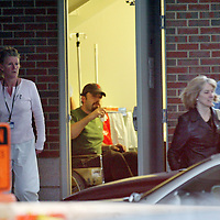 Ben Affleck leaves a Boston,MA hospital after allegedly being treated for the flu. Photo by Mark Garfinkel