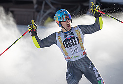 18.12.2016, Grand Risa, La Villa, ITA, FIS Ski Weltcup, Alta Badia, Riesenslalom, Herren, 2. Lauf, im Bild Luca De Aliprandini (ITA) // Luca De Aliprandini of Italy reacts after his 2nd run of men's Giant Slalom of FIS ski alpine world cup at the Grand Risa race Course in La Villa, Italy on 2016/12/18. EXPA Pictures © 2016, PhotoCredit: EXPA/ Johann Groder