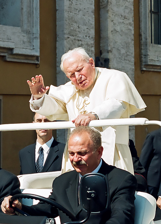 Pope John Paul II, St. Peter's Square, 2001. Photo taken June  19, 2001, during Madison Diocesan Choir tour of Italy.