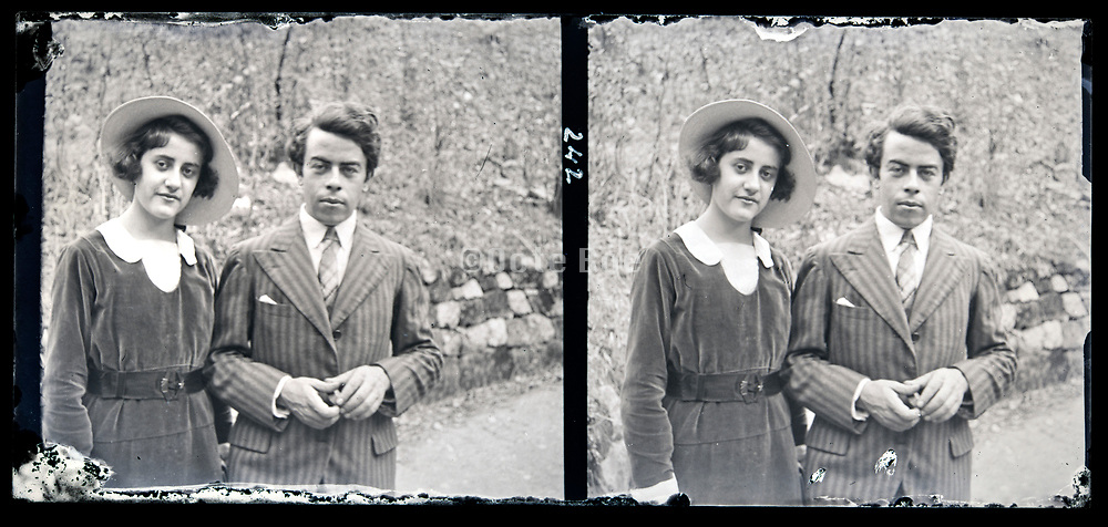 young couple posing together France circa 1930s