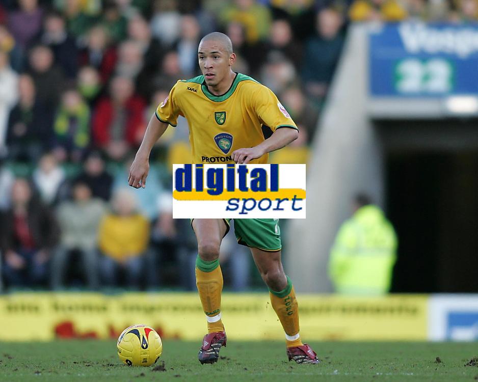 Photo: Lee Earle.<br /> Plymouth Argyle v Norwich City. Coca Cola Championship.<br /> 14/01/2006. Norwich's Jason Jarrett.