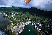 Aerial, Rarotonga, Avarua, Cook Islands, Polynesia