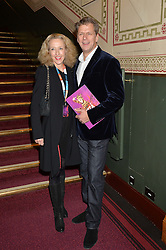 TV presenter ANDREW CASTLE and his wife SOPHIA at the Cirque Du Soleil's VIP performance of Kooza at The Royal Albert Hall, London on 6th January 2015.