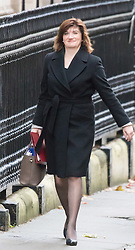 Downing Street, London, December 1st 2015. Education Secretary Nicky Morgan arrives at Downing Street for the weekly cabinet meeting. ///FOR LICENCING CONTACT: paul@pauldaveycreative.co.uk TEL:+44 (0) 7966 016 296 or +44 (0) 20 8969 6875. ©2015 Paul R Davey. All rights reserved.