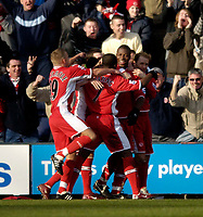 Photo: Jed Wee.<br /> Preston North End v Middlesbrough. The FA Cup. 19/02/2006.<br /> <br /> Middlesbrough mob goalscorer Yakubu after his first goal.