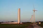 wind turbin under construction in central Oklahoma near Calumet