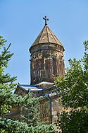Picture & image of the central cupola of the Cathedral Of Transfiguration, Medieval Georgian Orthodox, 7-9th century,  Ruisi, Georgia.<br /> <br /> A typical Georgian cruciform & cupola church Ruisi Cathedral Of Transfiguration was built by King Vakhtang Gorgasali in a typical 7th century style. .<br /> <br /> Visit our MEDIEVAL PHOTO COLLECTIONS for more   photos  to download or buy as prints https://funkystock.photoshelter.com/gallery-collection/Medieval-Middle-Ages-Historic-Places-Arcaeological-Sites-Pictures-Images-of/C0000B5ZA54_WD0s<br /> <br /> Visit our REPUBLIC of GEORGIA HISTORIC PLACES PHOTO COLLECTIONS for more photos to browse, download or buy as wall art prints https://funkystock.photoshelter.com/gallery-collection/Pictures-Images-of-Georgia-Country-Historic-Landmark-Places-Museum-Antiquities/C0000c1oD9eVkh9c
