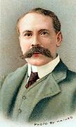 Edward Elgar (1857-1934)  English composer Chromolithograph published 1912