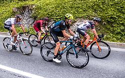 11.07.2019, Kitzbühel, AUT, Ö-Tour, Österreich Radrundfahrt, 5. Etappe, von Bruck an der Glocknerstraße nach Kitzbühel (161,9 km), im Bild Spitzengruppe, Brice Feillu (Arkea Samsic, FRA), Yannik Achterberg (Maloja Pushbikers, GER), Michal Podlaski (Wibatech Merx, POL), Mario Gamper (Tirol KTM Cycling Team, AUT) // Spitzengruppe, Brice Feillu (Arkea Samsic, FRA), Yannik Achterberg (Maloja Pushbikers, GER), Michal Podlaski (Wibatech Merx, POL), Mario Gamper (Tirol KTM Cycling Team, AUT) during 5th stage from Bruck an der Glocknerstraße to Kitzbühel (161,9 km) of the 2019 Tour of Austria. Kitzbühel, Austria on 2019/07/11. EXPA Pictures © 2019, PhotoCredit: EXPA/ JFK