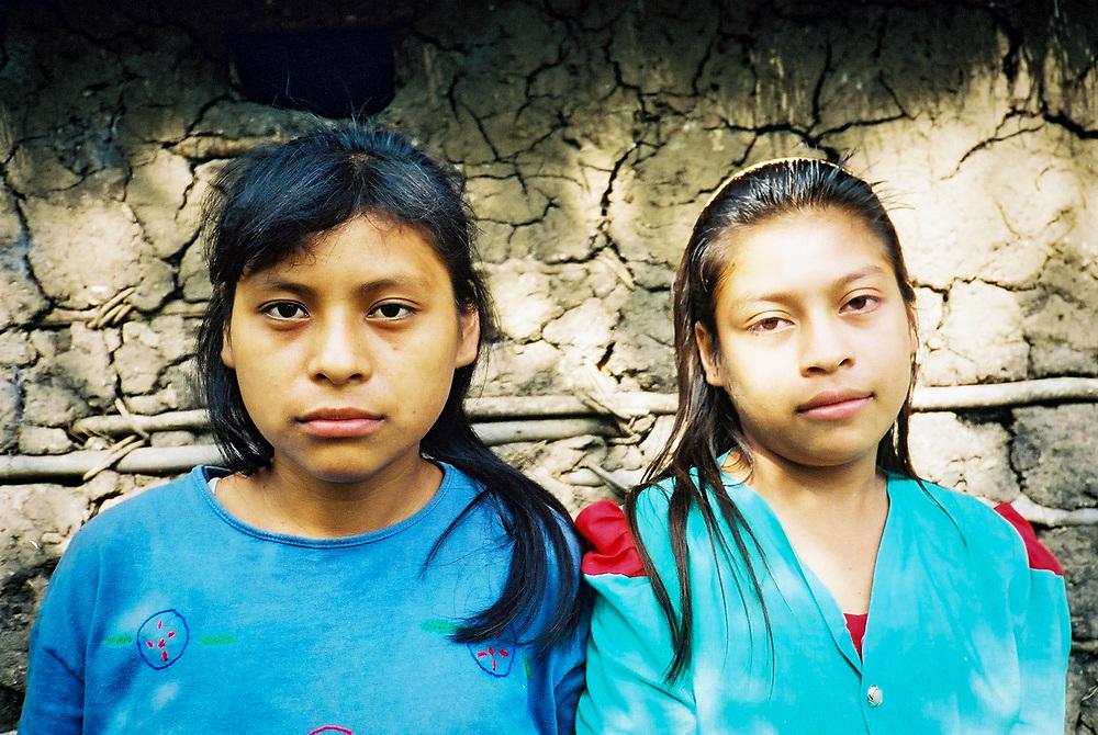 Two Maya Chortí sisters in the Copán region of Honduras