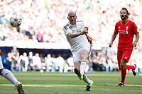 Real Madrid´s Zidane during 2015 Corazon Classic Match between Real Madrid Leyendas and Liverpool Legends at Santiago Bernabeu stadium in Madrid, Spain. June 14, 2015. (ALTERPHOTOS/Victor Blanco)