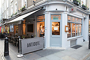 Exterior of Antidote Wine Bar on 2nd November 2015 in Covent Garden, London, United Kingdom