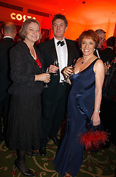 Left to right, KATE ADIE, MICHAEL BOWEN and ESTHER RANTZEN at the Costa Book Awards 2006 held at The Grosvenor House Hotel, Park Lane, London W1 on 7th February 2007.<br /><br />NON EXCLUSIVE - WORLD RIGHTS