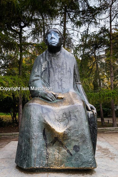Statue of Kathe Kollwitz in Prenzlauer Berg in Berlin Germany