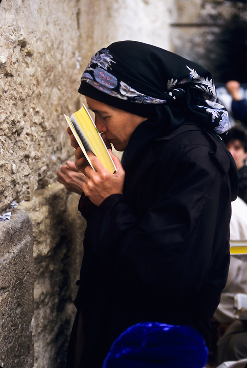 A woman at the Western Wall.