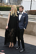 l to r: Claudia Schaffer and Stefano Pilati arrive at The Metropolitan Opera's 125th Anniversary Gala and Placido Domingo's 40th Anniversary Celebration underwritten by Yves Saint Laurent held at The Metropolitian Opera House, Lincoln Center on March 15, 2009 in New York City.