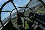 """Aboard the B-25 Bomber """"Panchito"""" flown by the DAV (Disabled American Veterans) Flight Team in NASA airspace before the start of the TICO Warbird Airshow."""