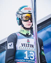 31.12.2018, Olympiaschanze, Garmisch Partenkirchen, GER, FIS Weltcup Skisprung, Vierschanzentournee, Garmisch Partenkirchen, Qualifikation, im Bild Eetu Nousiainen (FIN) // Eetu Nousiainen of Finland during the qualifying for the Four Hills Tournament of FIS Ski Jumping World Cup at the Olympiaschanze in Garmisch Partenkirchen, Germany on 2018/12/31. EXPA Pictures © 2018, PhotoCredit: EXPA/ Stefanie Oberhauser