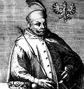 Stefan Batory king of Poland on anonymous plate before 1586 born 1533, died 1586. prince of Transylvania (1571–76) and king of Poland (1575–86) who successfully opposed the Habsburg candidate for the Polish throne