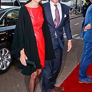 NLD/Amsterdam/20110912 - Prinses Margriet en partner Pieter van Vollenhoven met kinderen bij de lancering van Pr.Margriet fonds, Prins Maurits en partner Marilene van den Broek