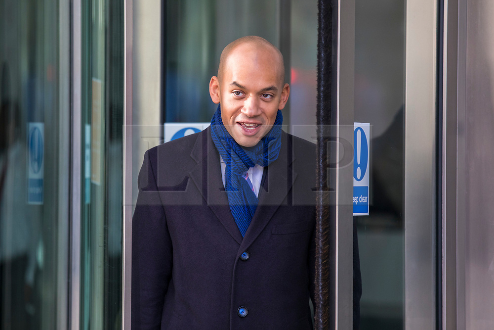 © Licensed to London News Pictures. 11/02/2018. London, UK. Chuka Umuna MP outside BBC Broadcasting House. Photo credit: Rob Pinney/LNP