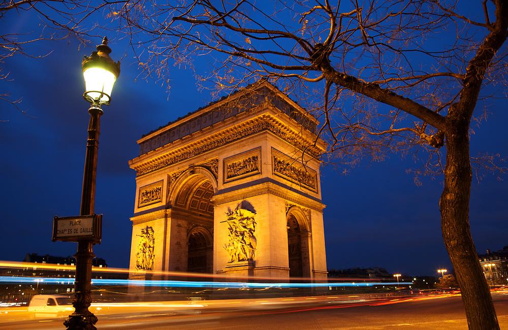 Arch of Triumph. Paris, France.<br /> Photo by Lorenz Berna
