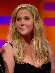 Amy Schumer during the filming of the Graham Norton Show at The London Studios, to be aired on BBC One on Friday.