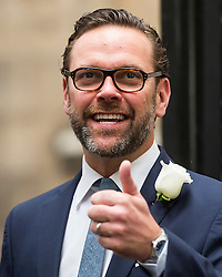 © London News Pictures. 05/03/2016. London, UK. JAMES MURDOCH attends a ceremony to mark the wedding of Rupert Murdoch and Jerry Hall held at St Brides Church on Fleet Street,  central London on February 05, 2016. . Photo credit: Ben Cawthra /LNP