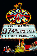Slots a' fun casino sign. Las Vegas, Nevada. USA.