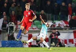 Eric Dier of England goes past Rok Kronaveter of Slovenia - Mandatory by-line: Robbie Stephenson/JMP - 11/10/2016 - FOOTBALL - RSC Stozice - Ljubljana, England - Slovenia v England - World Cup European Qualifier