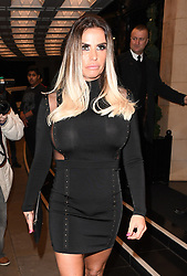 Katie Price pictured leaving Tv Choice Awards in London following cheating Scandal Involving her husband Kieran Hayler. Katie was seen without her wedding ring on as she left the awards held at The Dorchester Hotel. <br /><br />5 September 2017.<br /><br />Please byline: Craig/Will/Vantagenews.com