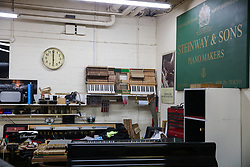 London, UK. 18 September, 2019. The restoration rooms in Steinway Hall, where Steinway & Sons have been based in London since 1875, were today opened to guests for the first time. Steinway Hall is the only authorised Steinway piano restorer in the UK, accepting pianos from institutions, piano technicians and retailers, as well as private owners. Steinway & Sons have been producing the finest pianos since 1853, hand crafting instruments in New York and Hamburg using a high level of traditional craftsmanship, painstaking attention to detail and premium grade materials.