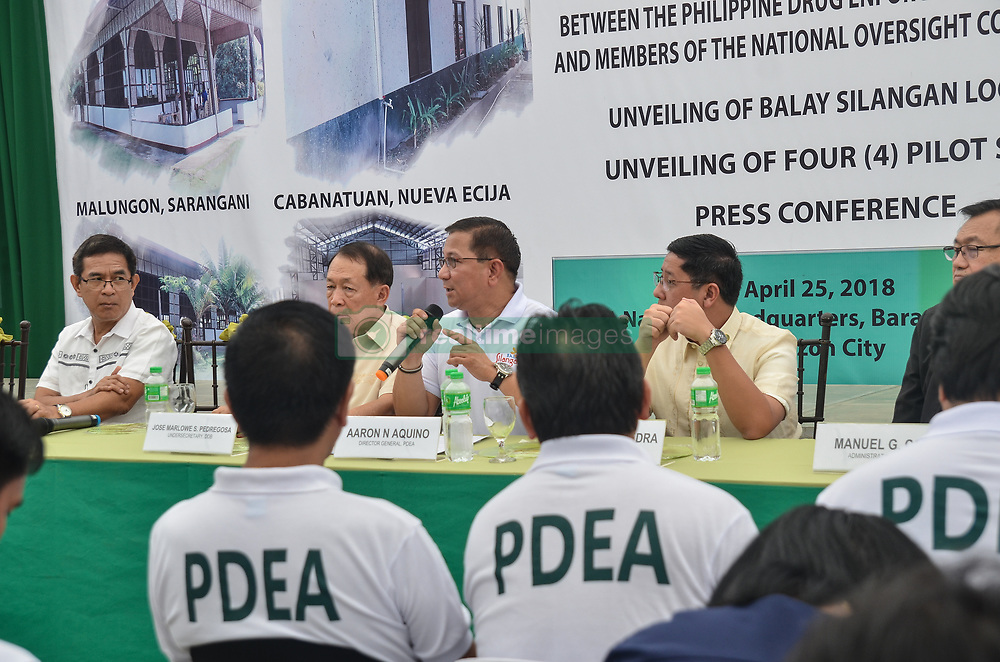 April 25, 2018 - Quezon City, Metro Manila, Philippines - ''By giving them a new lease of life, drug surrenderers may well become reformers. The government will provide refuge where dug offenders can pick up the pieces of their shattered lives and make themselves whole again,'' the PDEA chief said, adding that surrendering is a sign of not giving up on life. (Credit Image: © Pacific Press via ZUMA Wire)