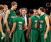 CHARLOTTESVILLE, VA- NOVEMBER 26:  Head coach Brian Wardle of the Green Bay Phoenix talks with his players during the game on November 26, 2011 at the John Paul Jones Arena in Charlottesville, Virginia. Virginia defeated Green Bay 68-42. (Photo by Andrew Shurtleff/Getty Images) *** Local Caption *** Brian Wardle