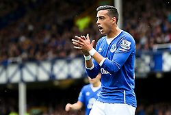 Everton's Ramiro Funes Mori applauds his team mates - Mandatory byline: Matt McNulty/JMP - 07966386802 - 12/09/2015 - FOOTBALL - Goodison Park -Everton,England - Everton v Chelsea - Barclays Premier League