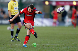 Edinburgh Rugby's Duncan Weir attempts a conversion during the European Challenge Cup, pool five match at Twickenham Stoop, London.