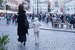October 31, 2018 - Roma, RM, Italy - Halloween at Navona square, Rome..On Halloween evening in the streets and squares of the center of Rome, with children and masked parents, on October 31, 2018 (Credit Image: © Matteo Nardone/Pacific Press via ZUMA Wire)