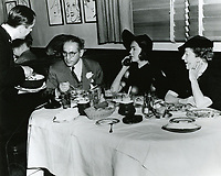 1944 Gus Edwards, Lila Lee & Mrs. Edwards at the Brown Derby