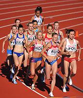 Friidrett<br /> 19.06.2010<br /> Foto: Dppi/Digitalsport<br /> NORWAY ONLY<br /> <br /> ATHLETICS - EUROPEAN TEAM CHAMPIONSHIPS 2010 - BERGEN (NOR) - 17/ TO 20/06/2010<br /> <br /> 3000 M HINDER - WOMEN - SOPHIE DUARTE (FRA)<br /> KAROLINE BJERKELI GRØVDAL