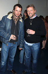 """Left to right, actors JAMES PUREFOY and AIDAN QUINN at an after show party for """"The Exonerated"""" at The Riverside Studios, Crisp Road, Hammersmith, London on 24th February 2006.<br /><br />NON EXCLUSIVE - WORLD RIGHTS"""