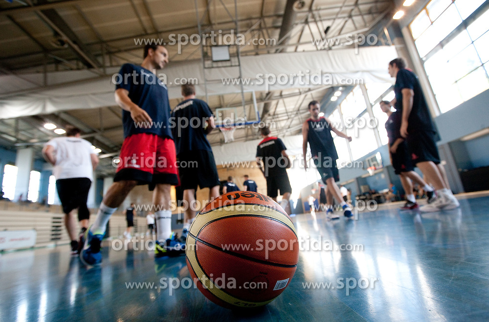 Ball during media day at training camp of Slovenian National Basketball team for Eurobasket Lithuania 2011, on July 19, 2011, in Arena Ljudski vrt, Ptuj, Slovenia.  (Photo by Vid Ponikvar / Sportida)