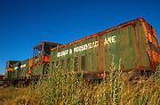 Old railroad engines from the Belfast & Moosehead Lake railway.