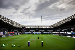 A general view of Liberty Stadium, home of Ospreys<br /> <br /> Photographer Simon King/Replay Images<br /> <br /> European Rugby Challenge Cup Round 5 - Ospreys v Worcester Warriors - Saturday 12th January 2019 - Liberty Stadium - Swansea<br /> <br /> World Copyright © Replay Images . All rights reserved. info@replayimages.co.uk - http://replayimages.co.uk