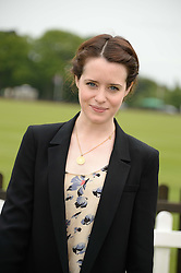 CLAIRE FOY at the 2013 Cartier Queens Cup Polo at Guards Polo Club, Berkshire on 16th June 2013.
