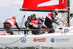 , Kiel - Kieler Woche 17. - 25.06.2017, Audi e-tron Cup - Boot 5 - Team New Kids on the Boat - CHarles Rettinghaus, Oliver Höner, Iris Aschbrenner