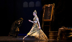 La Bayadere <br /> A ballet in three acts <br /> Choreography by Natalia Makarova <br /> After Marius Petipa <br /> The Royal Ballet <br /> At The Royal Opera House, Covent Garden, London, Great Britain <br /> General Rehearsal <br /> 30th October 2018 <br /> <br /> STRICT EMBARGO ON PICTURES UNTIL 2230HRS ON THURSDAY 1ST NOVEMBER 2018 <br /> <br /> <br /> Natalia Osipova as Gamzatti <br /> <br /> <br /> Photograph by Elliott Franks Royal Ballet's Live Cinema Season - La Bayadere is being screened in cinemas around the world on Tuesday 13th November 2018 <br /> --------------------------------------------------------------------