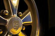 Close-up detail of a Porsche 911 Fuchs wheel by Randy Wells