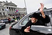 Nicolas Celaya/ URUGUAY/ MONTEVIDEO/ PALACIO LEGISLATIVO<br /> En la foto, Mercedes Menafra a la salida del velorio del expresidente Jorge Batlle en el Palacio Legislativo. Nicolás Celaya /adhocFOTOS<br /> 2016 - 25 de octubre - martes