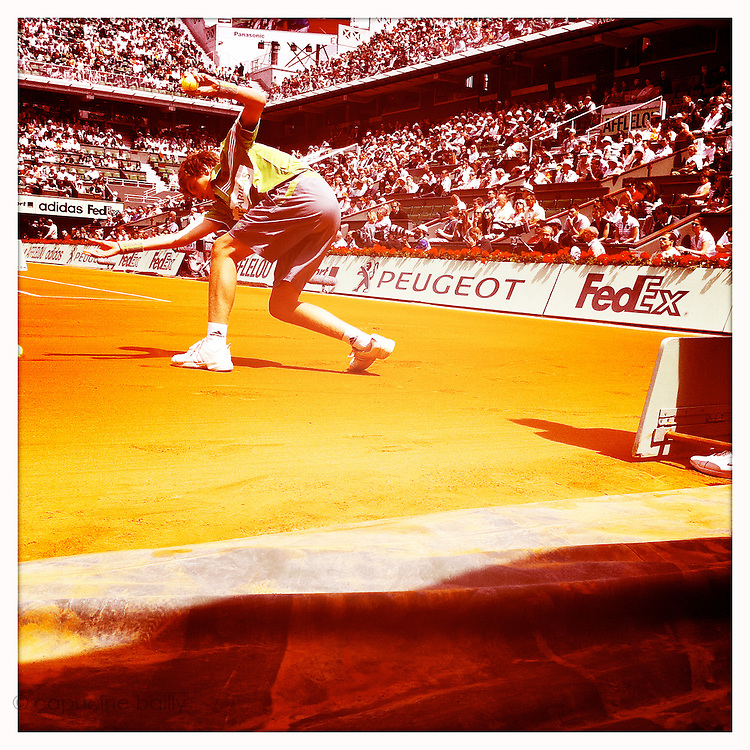 Roland Garros 2011. Paris, France. May 28th 2011..A ball boy on the Court Philippe Chatrier