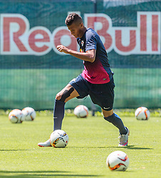 07.07.2015, Steinbergstadion, Leogang, AUT, Trainingslager, RB Leipzig, im Bild Davie Selke (RB Leipzig) // during the Trainingscamp of German 2nd Bundesliga Club RB Leipzig at the Steinbergstadium in Leogang, Austria on 2015/07/07. EXPA Pictures © 2015, PhotoCredit: EXPA/ JFK